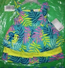 DISNEY BABY STITCH TIERED TROPICAL PATTERN DRESS  DIAPER COVER 9-12M 18-24M