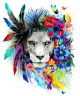 Lion Face Wall Sticker Decal Bedroom Living Room Decoration Artwork Home Decor