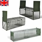 Humane Live Catch Trap Fox Cat Steel Rodent Cage Mesh Holes 1 2 Doors Outdoor UK
