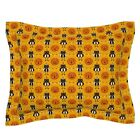 Pumpkin Cat Halloween Vintage Kitsch Black Style Garland Pillow Sham by Roostery