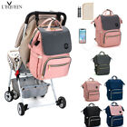 LEQUEEN USB USB Nappy Backpack Baby Diaper Changing Pad Stroller Hook Large Bag