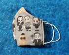 Washable Handmade Fabric Face Mask filter pocket THE ADDAMS FAMILY