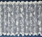 Meadow Lace Cafe Net  Curtains White - Sold By The Metre