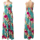 STRAPPY FLORAL SUMMER MAXI DRESS SIZE 8-10 ADJUSTABLE STRAPS PULL ON DESIGN