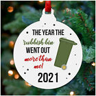 Funny Lockdown Christmas Decoration 2020 Rubbish Bin Christmas Tree Bauble Gift