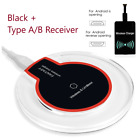 Qi Wireless Fast Charger Dock Charging Pad + Receiver For Samsung Android Phone