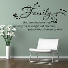 Wall Sticker Vinyl Wall Art Decal Family Wall Quote Bedroom Wall Decoration N18