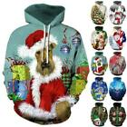 Christmas Novelty Hoodie Xmas Hooded Long Sleeve Pullover Sweatshirt Jumper Top