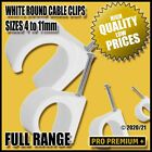 White Round Cable Clips Clamps Nail Wall Tacks Wires Leads 4,5,6,7,8,9,10,11mm