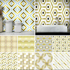10-90Pcs Wall Tile Stickers Stick On Kitchen Wall Self-adhesive Bathroom Decor