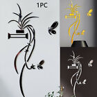 Mural Decals Tv Background Simple Home Decor Acrylic Wall Sticker Flower Shaped