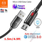 Mcdodo Micro USB Charging Cable Android Charger Smart Auto Disconnect Data Cord