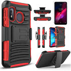 For T-Mobile Revvl 4/ Revvl 4 Plus/Revvl 5G Case, Belt +Tempered Glass Protector