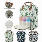 Baby Diaper Bag Nappy Maternity Backpack Waterproof Mummy Flower Print Large Bag