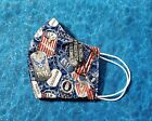 Washable Handmade Fabric Face Mask filter pocket US UNITED STATES AIR FORCE TAGS
