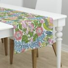 Table Runner Watercolor 18 Flora A Watercolor Floral Botanical Cotton Sateen