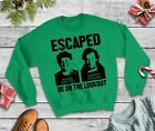 Wet Bandits Escaped Home Alone Christmas Jumper - Sweatshirt Funny Xmas
