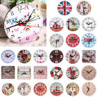 Creative+Vintage+Wooden+Round+Hanging+Clock+Shabby+Chic+Rustic+Decor+Wall+Clock+