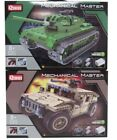 Remote Control Mechanical Master Vehicles - Tank Jeep Army Toys Play Xmas Gift