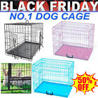 Dog Puppy Cage Pet Animal Training Carrier Crate Small Medium Large XL - BLACK
