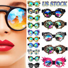 C.F.Goggles Vintage Steampunk Kaleidoscope Glasses Punk len Gothic Cosplay Party