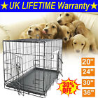 NEW DOG CAGE PUPPY TRAINING CRATE PET CARRIER - SMALL MEDIUM LARGE XL XXL CAGES