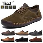 Wisstt Flats Leather Oxfords Suit Men's Casual Shoes Driving Moccasins Loafers