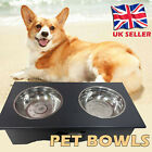 Non-Slip Double Pet Bowl Stainless Steel with Raised Stand Dog Cat Water Dish