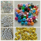 100 Emoji Smiley Faces 10x6mm 18 Colours Yellow Jewellery & Crafting. Uk Seller