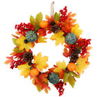 Ornament Door Hanging Pumpkin Wreath Thanksgiving Decoration Halloween Wreath