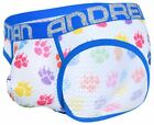 Andrew Christian Almost Naked Rainbow Growl Mesh Brief mens underwear bikini