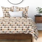 Rustic Houses Wood Texture Canvas Home Sweet Sateen Duvet Cover by Roostery