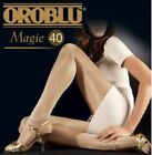 2 Pack Oroblu Magie 40 pantyhose, semi-opaque, sheer to waist, silky and shiny,