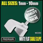 White Flat Twin & Earth Cable Clips Nail Tacks Clamps Electrical Wire...
