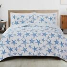 Great Bay Home 2-Piece Reversible Quilt Set with Shams. All-Season Coastal Beach