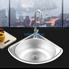 304 Stainless Steel Small Kitchen Single Bowl Triangle Bathroom Corner Sink