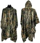 LOOGU Rain Poncho, Waterproof Camouflage Rain Coat Outdoor Camo Shelter Ground S