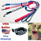 Service Dog Leash Lead + With Harness Pet Vest Reflective Non Padded Handle