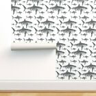 Removable Water-Activated Wallpaper Shark Sea Creature Ocean Fish Summer