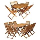 Folding Dining Set Outdoor Garden Patio Table Chair Set Furniture Set Solid Wood