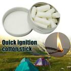 Natural Fire Starter Tinder Wax Infused Braided  Camping Gear Homemade Paraffin