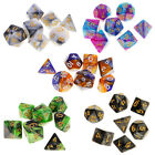 7Pcs Polyhedral Dice Polyhedral Game Dice for Table Game Entertainment