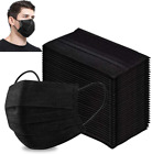 Внешний вид - 50 / 100 PCS Black Face Mask Mouth & Nose Protector Respirator Masks USA Seller