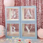 Balloon Boxes Transparent Decoration Boxes Blocks for DIY Baby Shower
