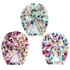 Newborn Baby Infant Floral Bowknot India Hat Headwrap Flower Print Beanie Cap