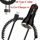 Type USB-C Super Fast Car Charger+6ft Cable For Samsung Galaxy S20 5G Ultra