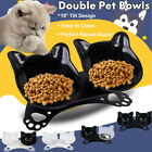 Non-slip Pet Dog Cat Double Bowls with Raised Stand Food Water Feeding Station