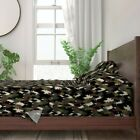 Bear Camo Forest Wilderness Woodland 100% Cotton Sateen Sheet Set by Roostery