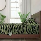 Digital Tiger Stripe Camo 100% Cotton Sateen Sheet Set by Roostery