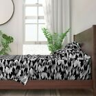 Bears Black Camouflage Woodland Texture 100% Cotton Sateen Sheet Set by Roostery